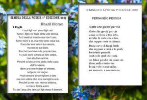 Semina della Poesia 1 edizione 2019